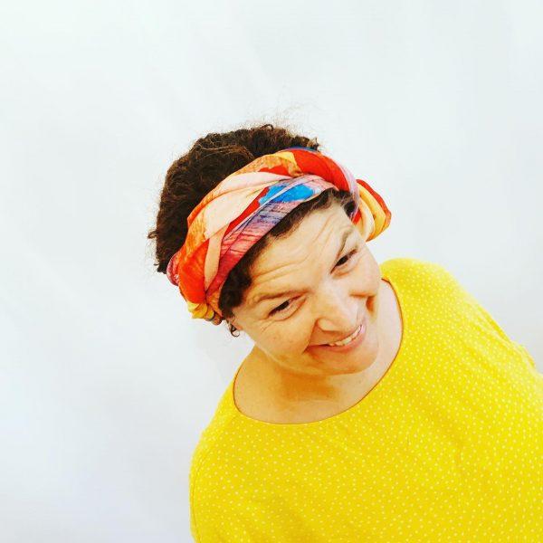 sunshine vibrant scarf printed with australian art