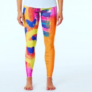 love leggings vibrant wearable art