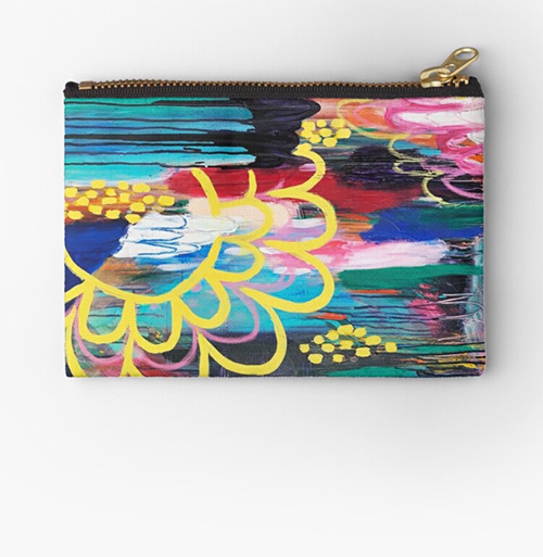 magic and healing vibrant art pouch