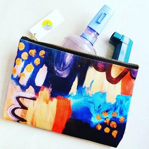 mysterious colourful clutch purse