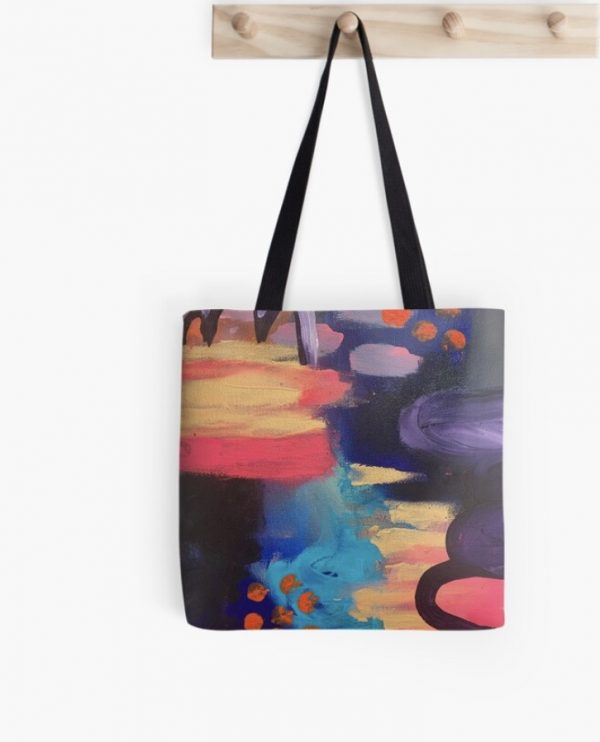 mysterious tote featuring moody australian art