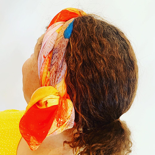 sunshine scarf printed with australian art