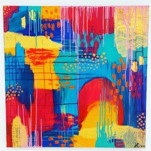 Colour Cave multicoloured art