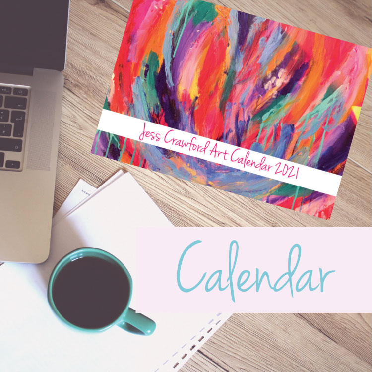 art brightens the way calendar 2021